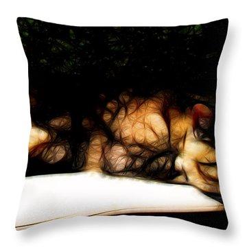 Cat Nap 1 Throw Pillow