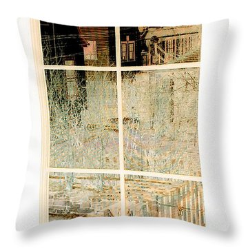 Cat Perspective Throw Pillow by Jacqueline McReynolds