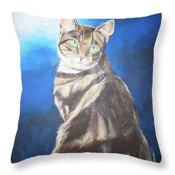 Cat Profile Throw Pillow