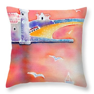 Catalan Sunset Throw Pillow