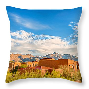 Throw Pillow featuring the photograph Catalina Foothills Morning by Dan McManus