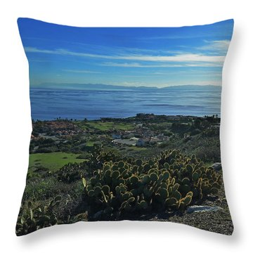 Catalina Is Viewed From Palos Verde Throw Pillow