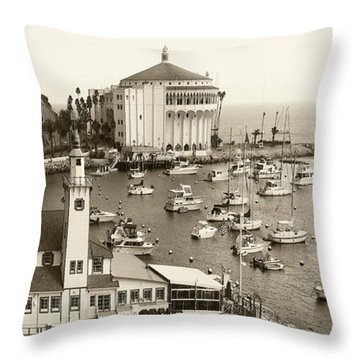 Catalina Island. Avalon Throw Pillow by Ben and Raisa Gertsberg