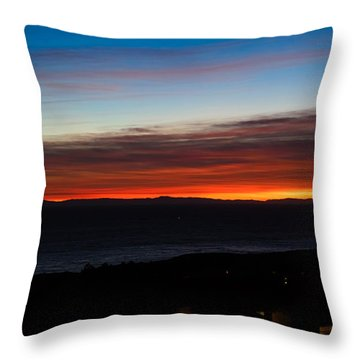 Catalina Island Sunset Throw Pillow by Penny Lisowski