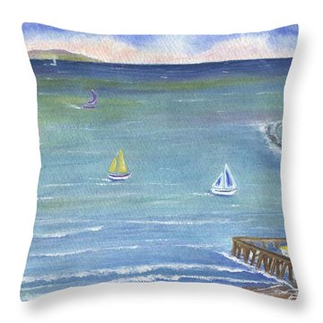 Catalina To Redondo Throw Pillow by Jamie Frier