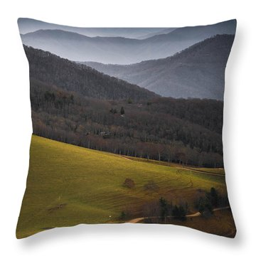 Cataloochee Valley Sunrise Throw Pillow by Serge Skiba