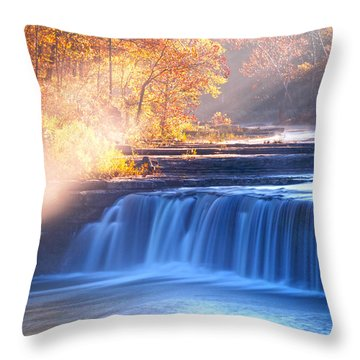 Cataract Falls Indiana Throw Pillow by Randall Branham