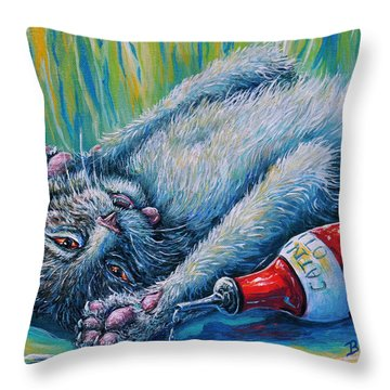 Catatonic Throw Pillow by Gail Butler