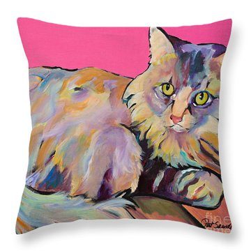 Catatonic Throw Pillow by Pat Saunders-White