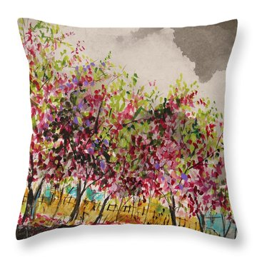Catbird Haven Throw Pillow by John Williams