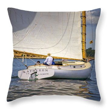 Catboat Kathleen Throw Pillow