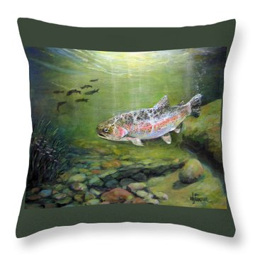 Catch It Throw Pillow by Donna Tucker