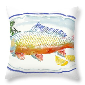 Throw Pillow featuring the digital art Catch Of The Day by Arline Wagner
