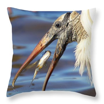 Catch Of The Day Throw Pillow by Bruce J Robinson