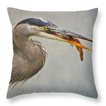 Throw Pillow featuring the photograph Catch Of The Day by Heather King