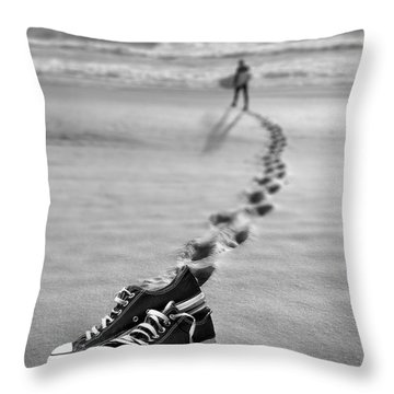Catch Some Waves Throw Pillow