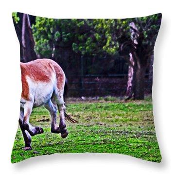 Catch Up To Mum Throw Pillow