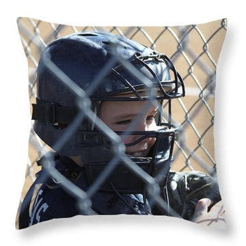 Catcher Throw Pillow by Chris Thomas