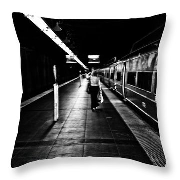 Catching The Five Thirty Throw Pillow by Karol Livote
