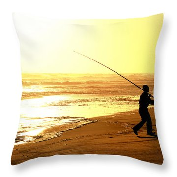 Catching The Last Rays... Throw Pillow by A Rey