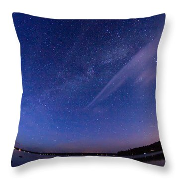 Catching The Milky Way Galaxy Throw Pillow