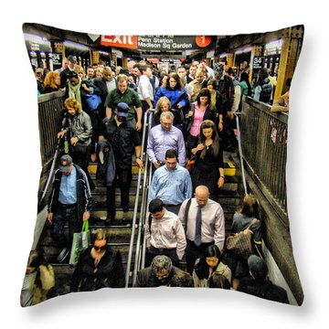 Catching The Subway Throw Pillow