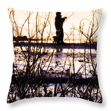 Throw Pillow featuring the photograph Catching The Sunrise by Robyn King