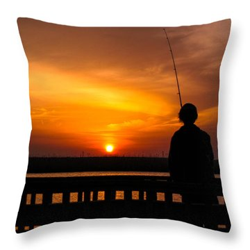 Catching The Sunset Throw Pillow