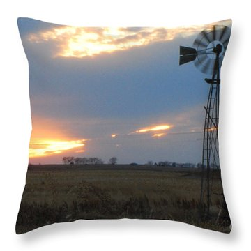 Catching The Wind In South Dakota Throw Pillow by Mary Carol Story