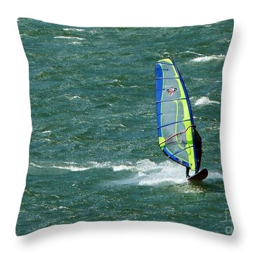 Catching Wind And Surf Throw Pillow