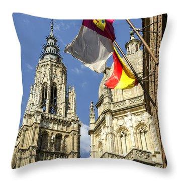 Catedral De Santa Maria De Toledo Throw Pillow