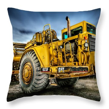 Caterpillar Cat 623f Scraper Throw Pillow