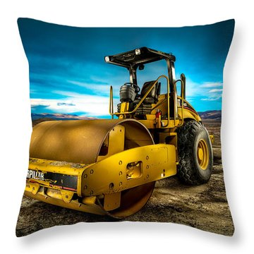 Caterpillar Cat Roller Cs563e Throw Pillow