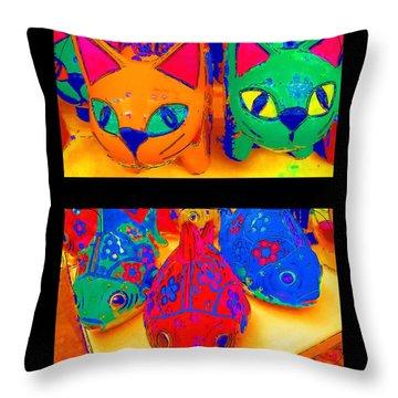 Catfish Throw Pillow by Alec Drake