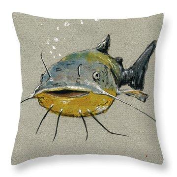 Catfish Throw Pillows