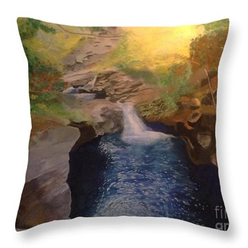 The Dark Gorge Throw Pillow