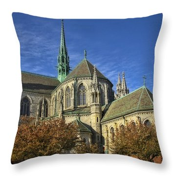 Cathedral Basilica Of The Sacred Heart Throw Pillow by Susan Candelario