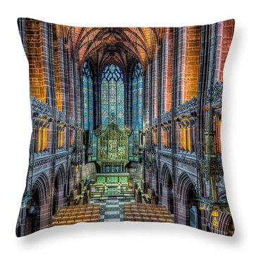 Cathedral Chapel Throw Pillow by Adrian Evans