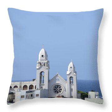 Cathedral De San Juan Throw Pillow
