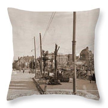 Cathedral Destruction Rheims France Throw Pillow