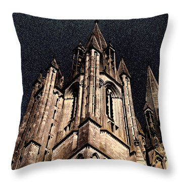 Throw Pillow featuring the photograph Cathedral In The Sky by Mary Bedy