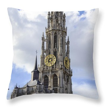 Cathedral In The Sky Throw Pillow by Pravine Chester