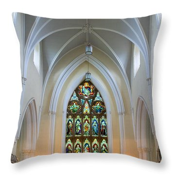Throw Pillow featuring the photograph Cathedral Interior by Jane McIlroy