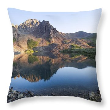 Cathedral Lake Reflection Throw Pillow
