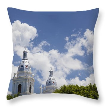 Throw Pillow featuring the photograph Cathedral Nuestra Senora De Guadalupe In Ponce by Bryan Mullennix
