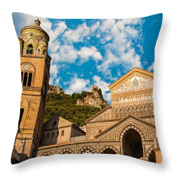 Cathedral Of Amalfi Throw Pillow
