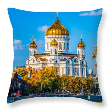 Cathedral Of Christ The Savior - 1 Throw Pillow
