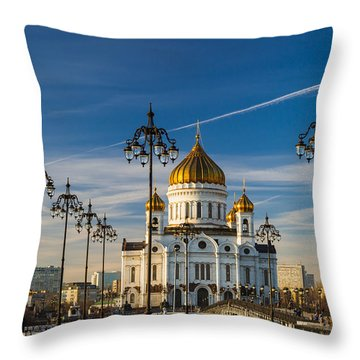 Cathedral Of Christ The Savior 3 - Featured 3 Throw Pillow by Alexander Senin
