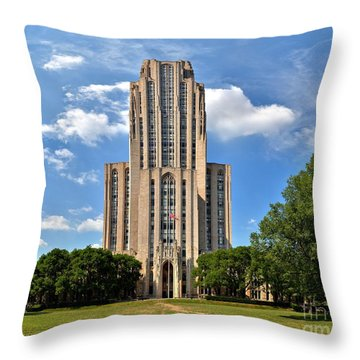 Cathedral Of Learning Pittsburgh Pa Throw Pillow