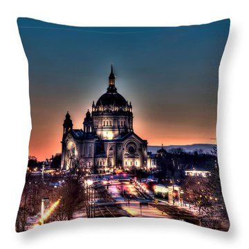 Cathedral Of Saint Paul Throw Pillow by Amanda Stadther